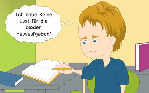 brain4kids Schulprobleme Keine Motivation für Hausaufgaben